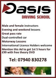 Oasis Driving School, Patchway, Bristol