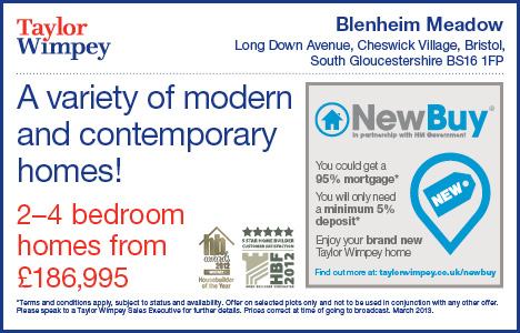 New homes from Taylor Wimpey at Bleinhem Meadow, Cheswick Village.