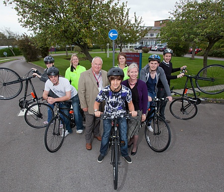Cyked cycle hire scheme at Patchway Community College