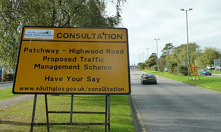 Consultation sign on Highwood Road, Patchway