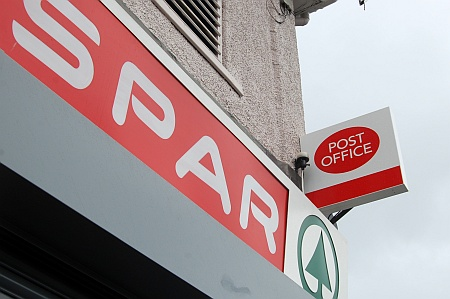 Patchway Post Office at the Spar store, Rodway Road.