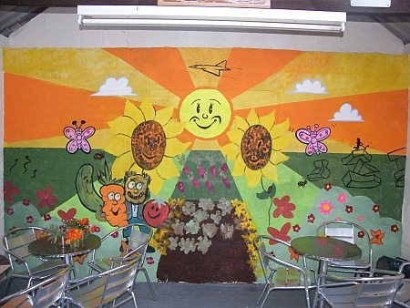 Mural at Pretoria Road allotments, Patchway, Bristol