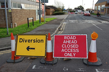 Temporary closure of Durban Road, Patchway, Bristol