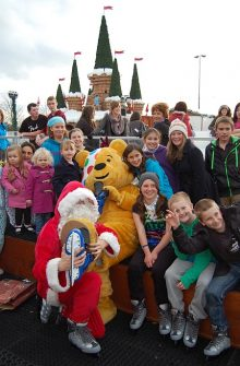 Pudsey and Santa at The Mall's Winter Wonderland