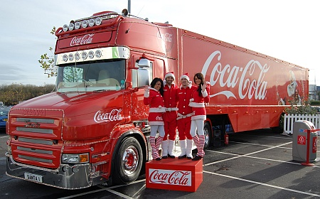 Coca-Cola truck at Asda in Patchway, Bristol