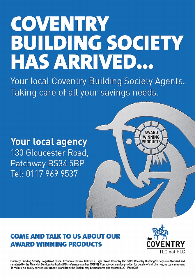 Coventry Building Society has arrived in Patchway