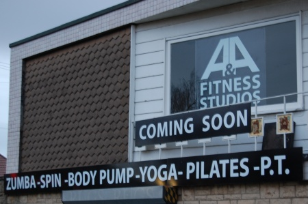 Signage at the new gym in Patchway
