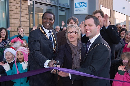 Official opening of the Patchway Hub - ribbon cutting