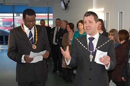 Cllr Ben Walker (Bradley Stoke North) speaks at the official opening