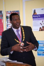 Cllr Eric Gordon, Mayor of Patchway