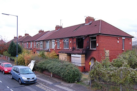 Derelict houses on Gloucester Road, Patchway