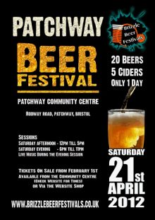 Patchway Beer Festival - Saturday 21st April 2012