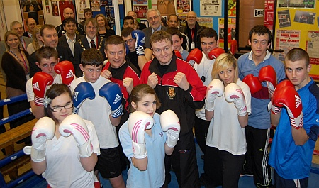 Official opening of Patchway Community College Amateur Boxing Club