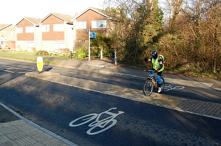 Cycle crossing point on Coniston Road, Patchway, Bristol