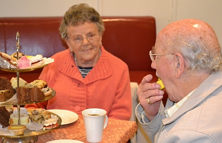 Over 60s tea party at the Brooks Café, Patchway, Bristol