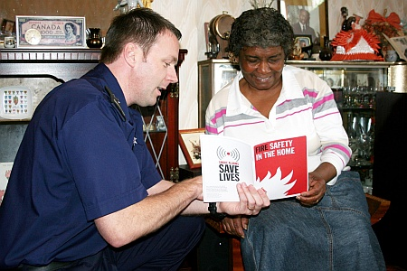 Lee Wright carries out a Home Fire Safety Visit