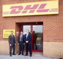 Jack Lopresti MP visits DHL at Cribbs Causeway, Bristol