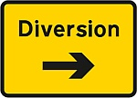 Temporary diversion sign.