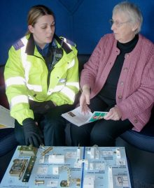 Police give advice on doorstep crime prevention