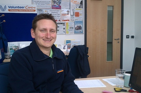 Dan Whiting, admin assistant at the Volunteer Centre, Patchway.