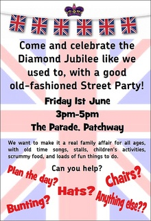 Diamond Jubilee Street Party at The Parade, Coniston Road, Patchway.