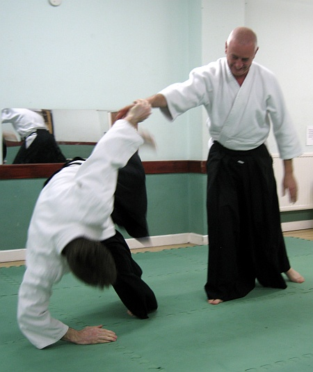 Practice session at Patchway Ki Aikido Club.