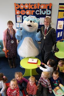 The Bookstart Bear visits Patchway Library.