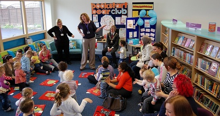 Storytime session at Patchway Library.
