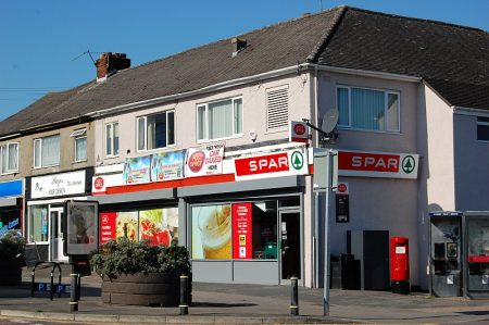 The Spar store and Post Office in Roadway Road, Patchway.