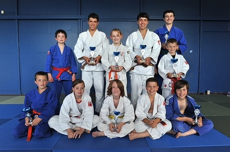 Patchway Judo Club 2012 Western Area champions and medal winners.