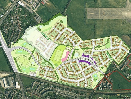 Illustrative neighbourhood masterplan of the Fishpool Hill development.