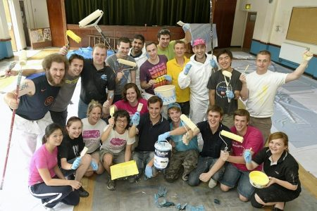 Airbus graduates redecorate Patchway Community Centre.
