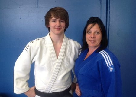 Alex Bright and Emma Peacock of Patchway Judo Club, Bristol.