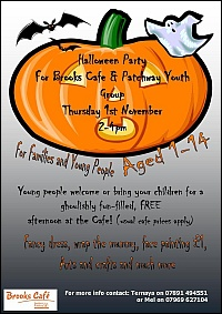 Halloween Party at Brooks Cafe, Coniston Community Centre, Patchway.