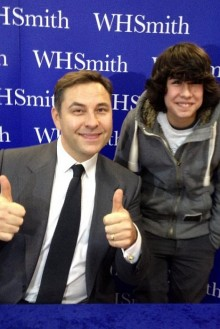 David Walliams pictured at a book signing in the WH Smith store at The Mall.