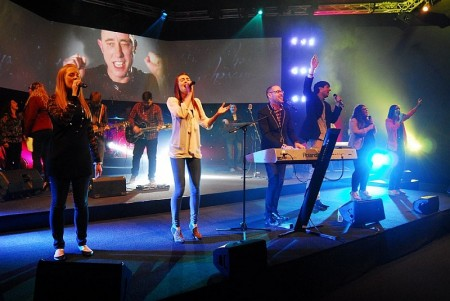 Performance at the official opening of the Edge Church campus in Bristol.