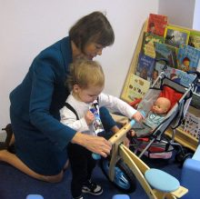 Jenny Agutter at the new Caerleon Child Care nursery in Cribbs Causeway.