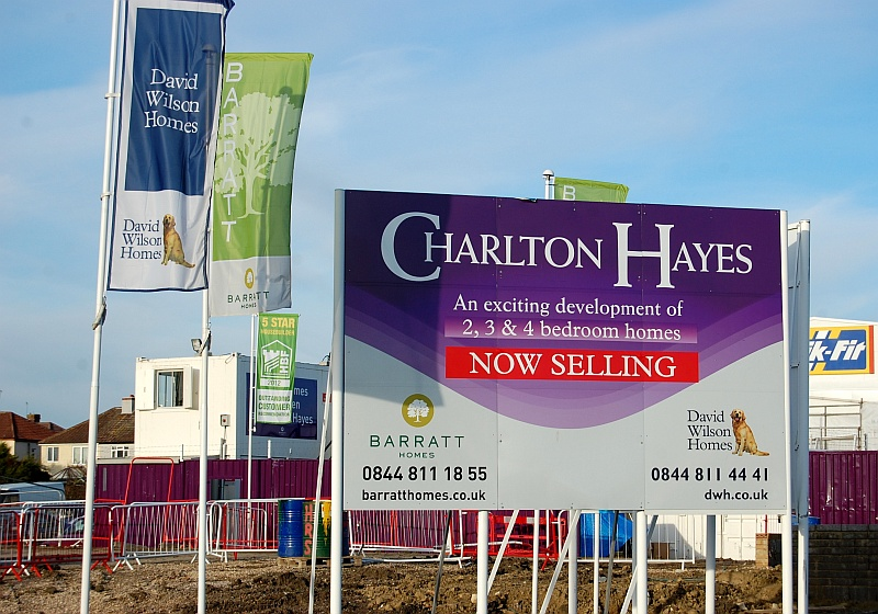Barratt and David Wilson Homes site at Charlton Hayes, Patchway, Bristol.