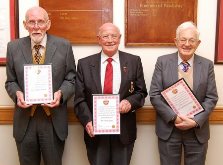 Patchway Town Council Honorary Freeman conferment ceremony.