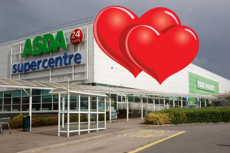 Love in the aisles at the Asda Supercentre, Cribbs Causeway, Bristol.