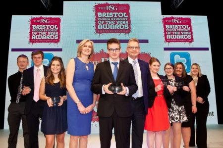 Winners at the RSG Bristol Young Student of the Year Awards.