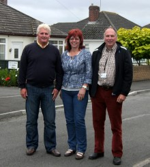 Stoke Lodge councillors (l-r) Andy Alsop, Sarah Pomfret and Brian Hopkinson.