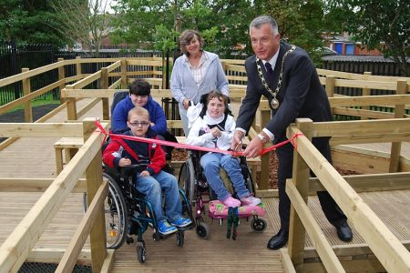 Accessible play area for children with disabilities at Scott Park, Patchway.
