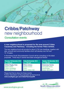 Cribbs/Patchway New Neighbourhood Consultation (Nov 2013).