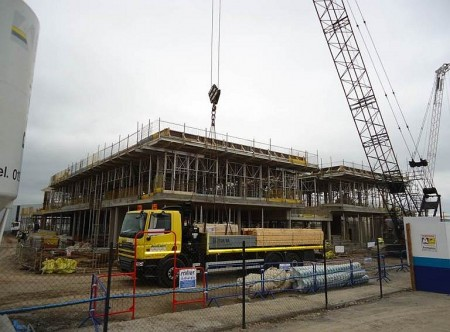 Custody suite and police station under construction at Gloucester Road, Patchway.