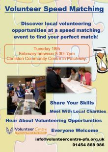 Volunteer Speed Matching event in Patchway.
