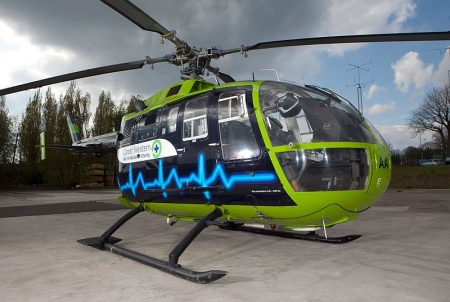 Helicopter of the Great Western Air Ambulance Charity (GWAAC).