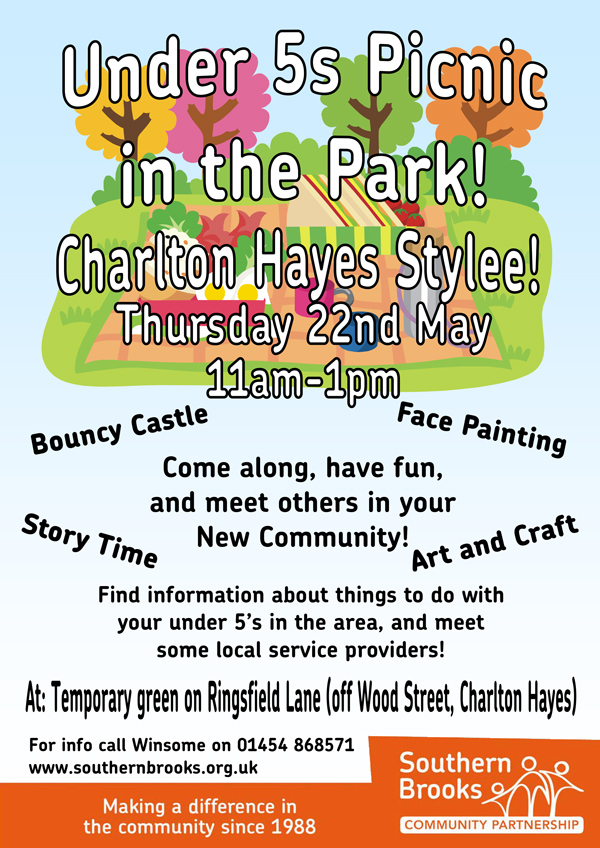 Charlton Hayes Under-5s Picnic in the Park.