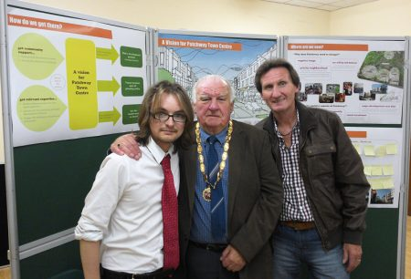 Labour councillors at the launch of a consultation on plans for the redevelopment of Patchway town centre.
