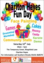 Charlton Hayes Fun Day on 12th July 2014.